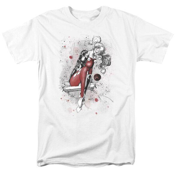 Jla Harley Sketch Short Sleeve Adult T-Shirt