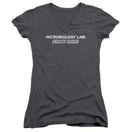 Staph Only Junior V Neck T-Shirt