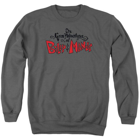 Grim Adventures Of Billy And Mandy Grim Logo Adult Crewneck Sweatshirt
