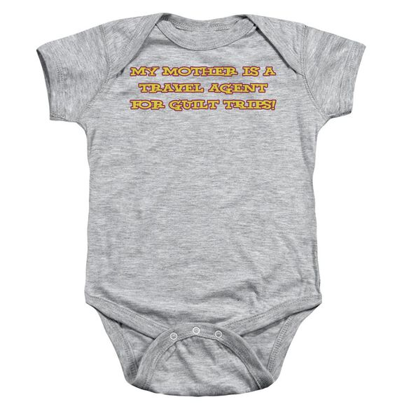Mother Travel Agent Infant Snapsuit Athletic Heather Lg
