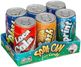 Soda Can Fizzy Candy [6 pack]