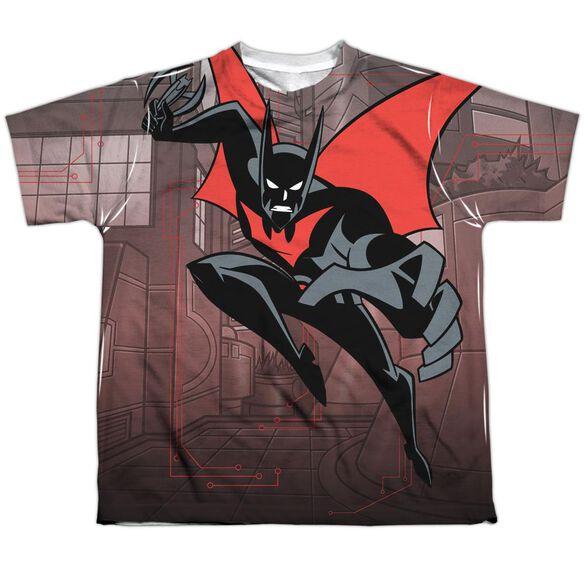 Batman Beyond Bat Tech Short Sleeve Youth Poly Crew T-Shirt