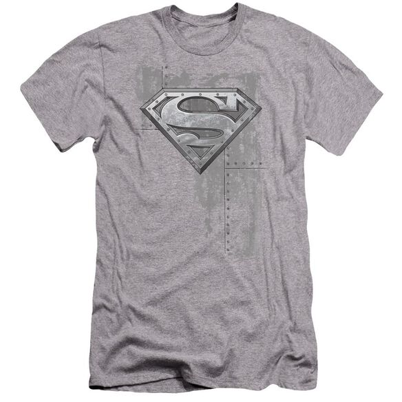 Superman Riveted Metal Premuim Canvas Adult Slim Fit Athletic