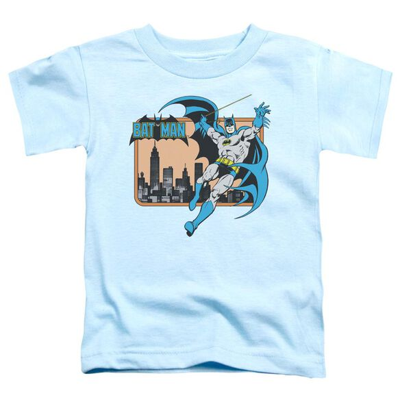 Dc Batman In The City Short Sleeve Toddler Tee Light Blue Lg T-Shirt
