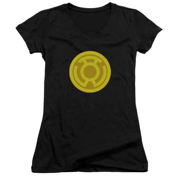 Green Lantern Yellow Symbol Junior V Neck T-Shirt
