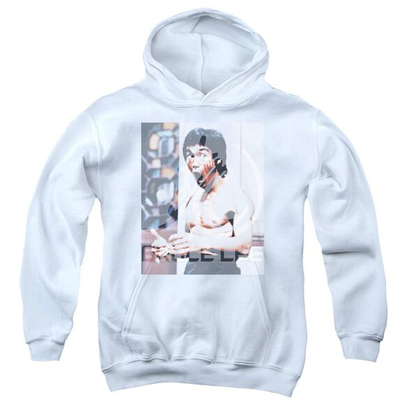 Bruce Lee Revving Up Youth Pull Over Hoodie