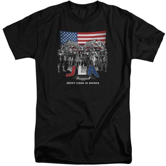 Jla All American League Short Sleeve Adult Tall T-Shirt