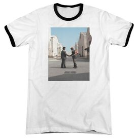 Pink Floyd Wish You Were Here Adult Ringer White Black