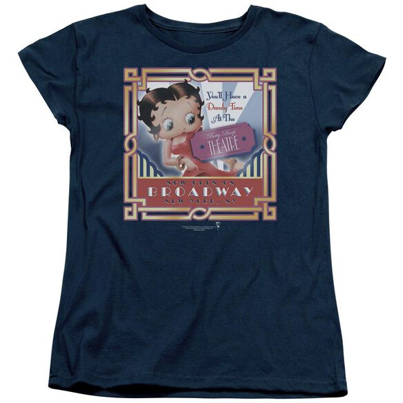 Betty Boop On Broadway Short Sleeve Womens Tee T-Shirt