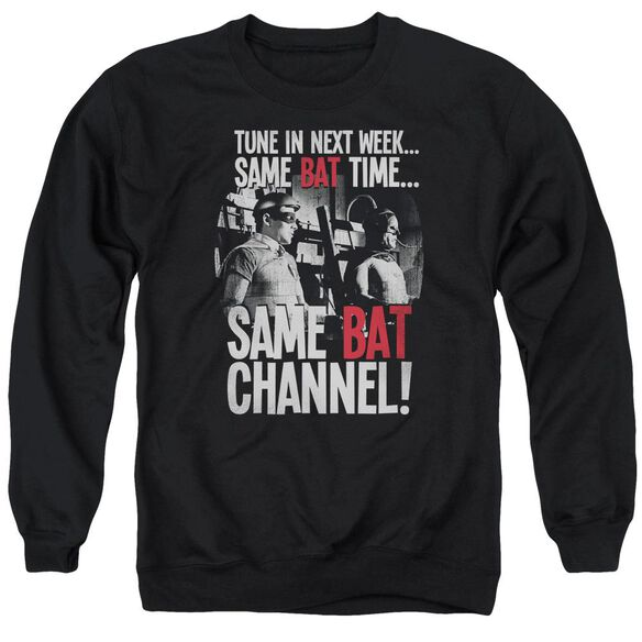 Batman Classic Tv Bat Channel Adult Crewneck Sweatshirt