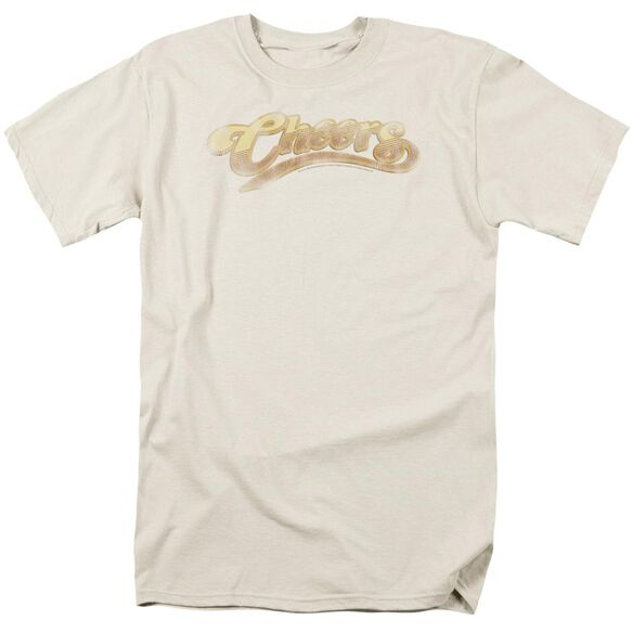 Cheers Cheers Distressed Short Sleeve Adult Sand T-Shirt