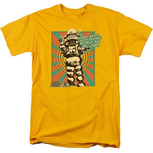 Forbidden Planet Oil Job Short Sleeve Adult T-Shirt