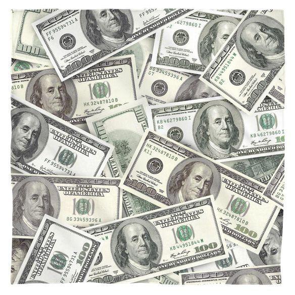 Hundred Dollar Bills Bandana