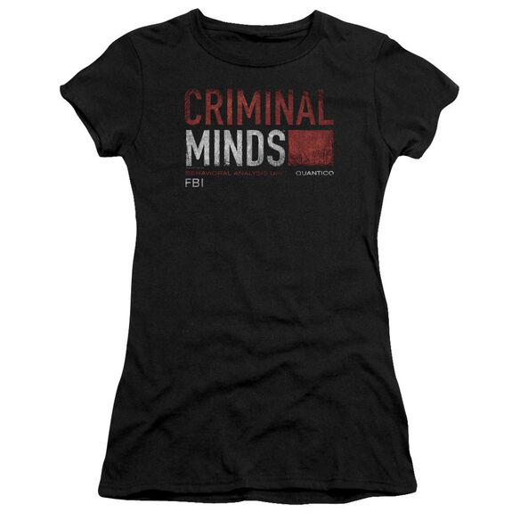 Criminal Minds Title Card Premium Bella Junior Sheer Jersey