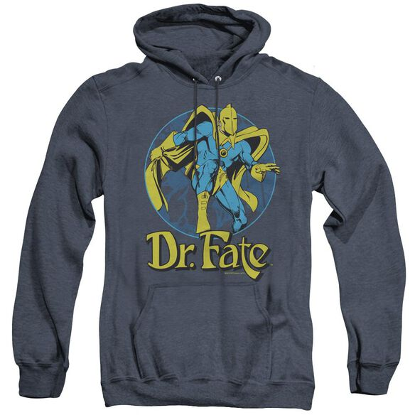 Dc Dr Fate Ankh - Adult Heather Hoodie - Navy