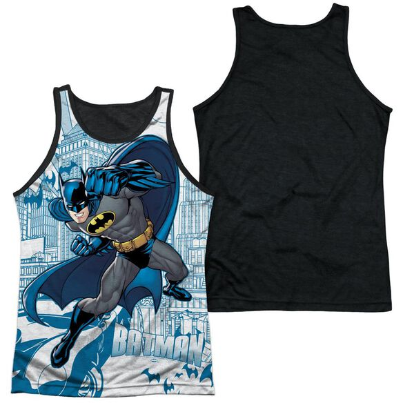 Batman Skyline All Over Adult Poly Tank Top Black Back
