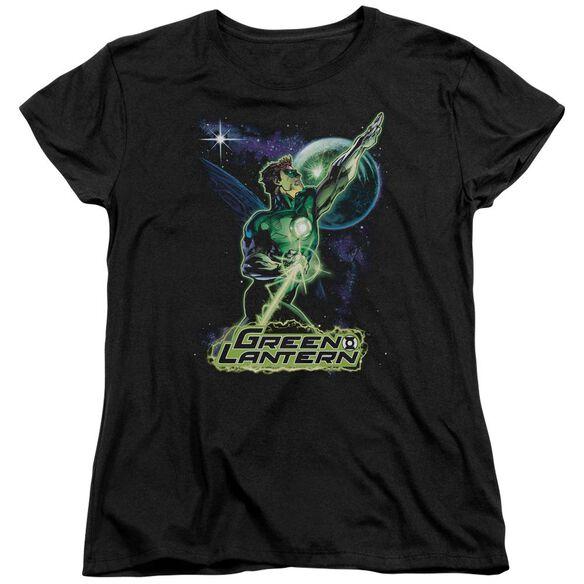 Jla Hal Galaxy Short Sleeve Womens Tee T-Shirt