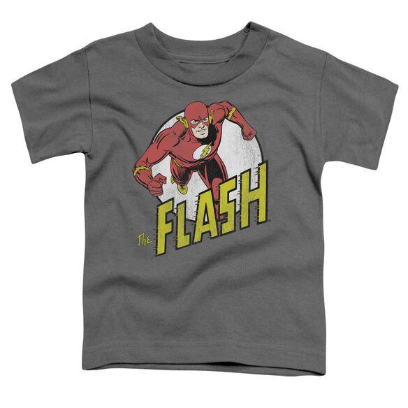 Dc Flash Run Flash Run Short Sleeve Toddler Tee Charcoal Lg T-Shirt