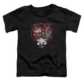 Power Rangers Red 25 Short Sleeve Toddler Tee Black T-Shirt