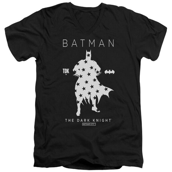 Batman Star Silhouette Short Sleeve Adult V Neck T-Shirt