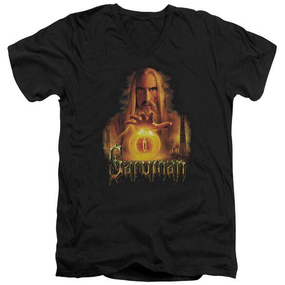 Lor Saruman Short Sleeve Adult V Neck T-Shirt