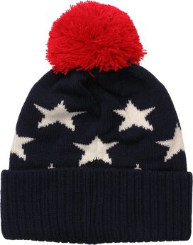 Captain America Stars and Name Pom Beanie