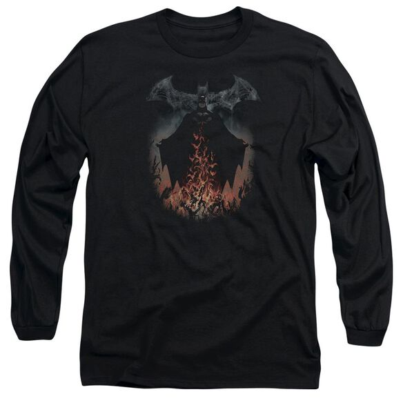 Batman Smoke & Fire Long Sleeve Adult T-Shirt