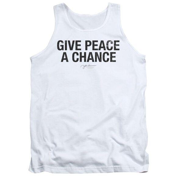 John Lennon Give Peace A Chance Adult Tank