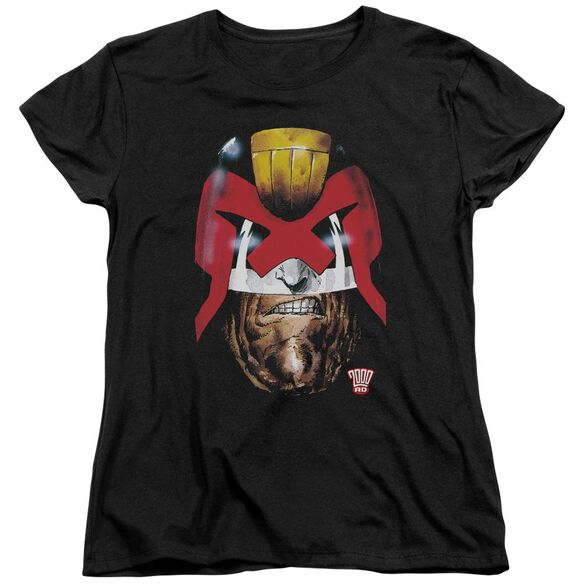 Judge Dredd Dredds Head Short Sleeve Womens Tee T-Shirt