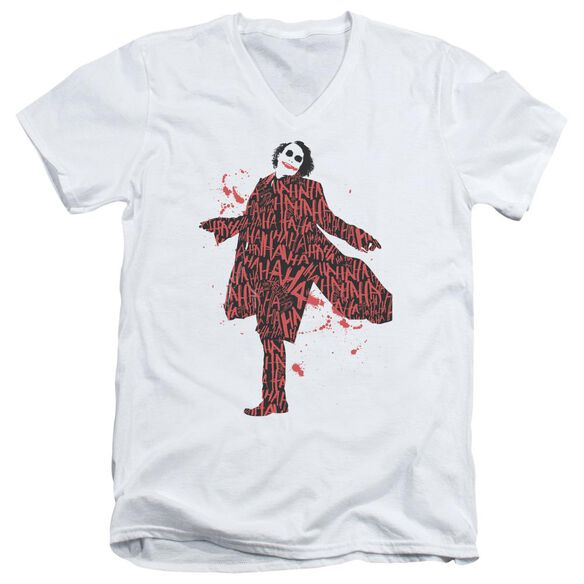 Dark Knight Covered In Laughter Short Sleeve Adult V Neck T-Shirt
