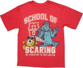 Monsters University School of Scaring Youth T-Shirt