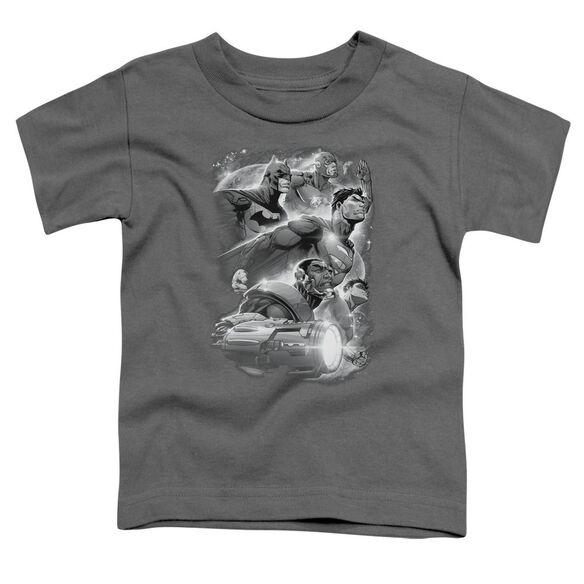 Jla Atmospheric Short Sleeve Toddler Tee Charcoal Md T-Shirt