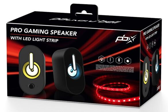 PBX Pro Gaming Speaker with LED Light Strip Bundle