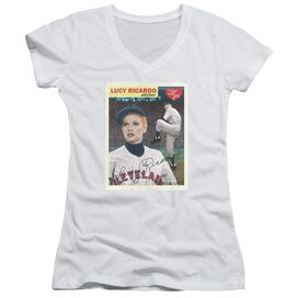 I Love Lucy Trading Card Junior V Neck T-Shirt