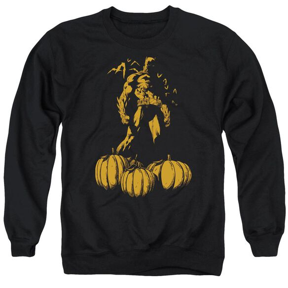 Batman A Bat Among Pumpkins Adult Crewneck Sweatshirt