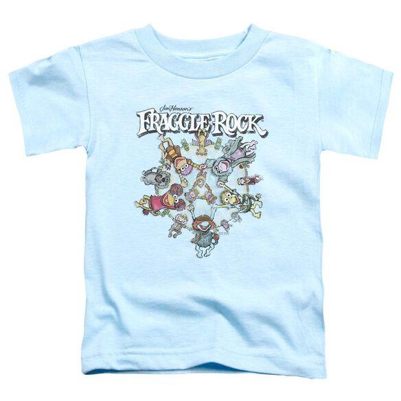 Fraggle Rock Spinning Gang Short Sleeve Toddler Tee Light Blue T-Shirt