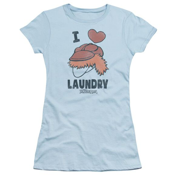 Fraggle Rock Laundry Lover Short Sleeve Junior Sheer Light T-Shirt