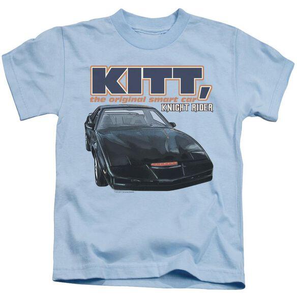 Knight Rider Original Smart Car Short Sleeve Juvenile Light Blue T-Shirt