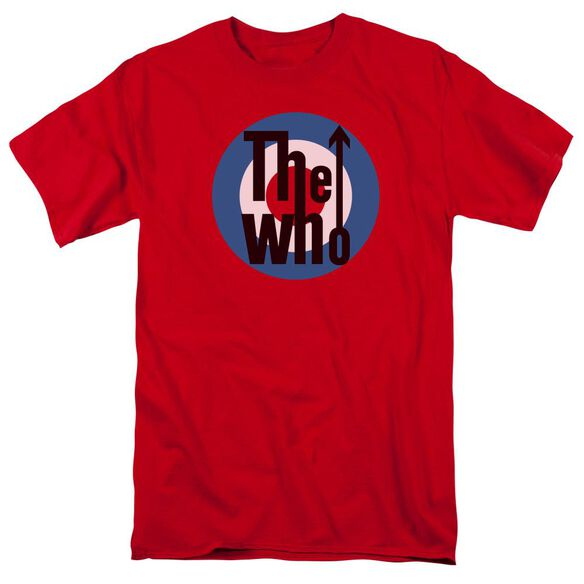 The Who Logo Short Sleeve Adult Red T-Shirt