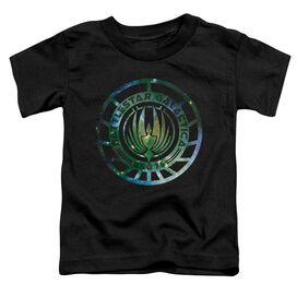 Battlestar Galactica (New) Galaxy Emblem Short Sleeve Toddler Tee Black T-Shirt