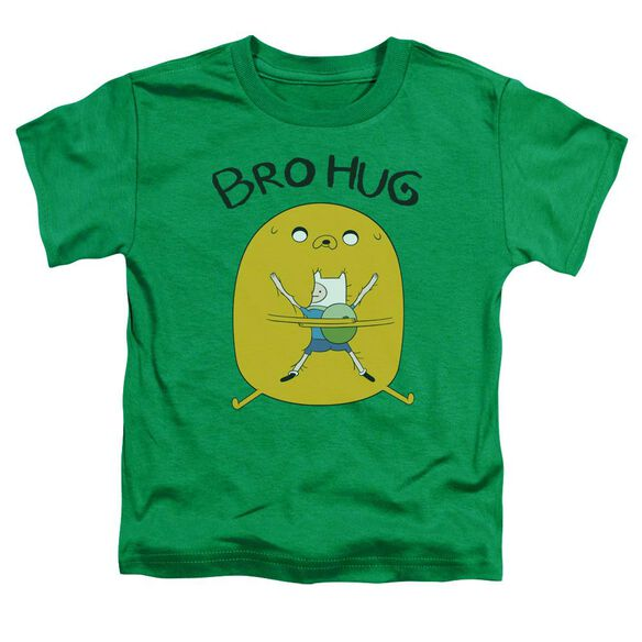 Adventure Time Bro Hug Short Sleeve Toddler Tee Kelly Green T-Shirt
