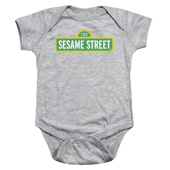 Sesame Street Logo Infant Snapsuit Athletic Heather