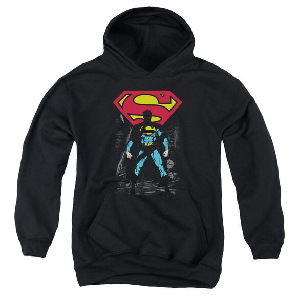 Superman Dark Alley Youth Pull Over Hoodie
