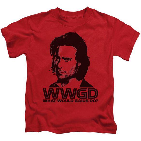Bsg Wwgd Short Sleeve Juvenile Red T-Shirt