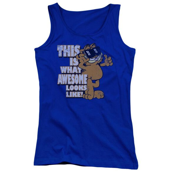 Garfield Awesome Juniors Tank Top Royal