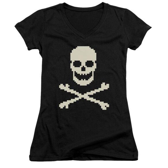 8 Bit Roger Junior V Neck T-Shirt