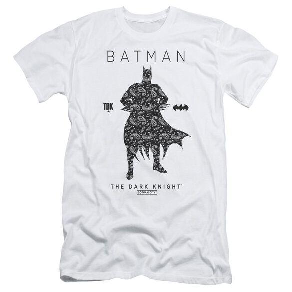 Batman Paislety Silhouette Short Sleeve Adult T-Shirt