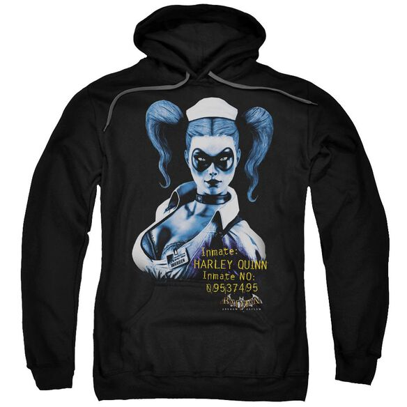 Batman Aa Arkham Harley Quinn Adult Pull Over Hoodie Black