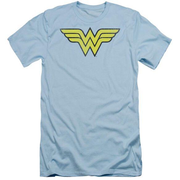 Dc Ww Logo Distressed Short Sleeve Adult Light T-Shirt