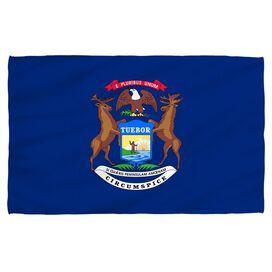 Michigan Flag Bath Towel
